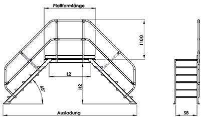 zweiter handlauf 2 gel nder f r g nzburger berstieg 45 3 11 stufen lichte h he 0 56m 2. Black Bedroom Furniture Sets. Home Design Ideas
