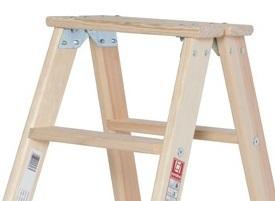 euroline holz stufen stehleiter beidseitig begehbar siegel steigtechnik gmbh onlineshop. Black Bedroom Furniture Sets. Home Design Ideas
