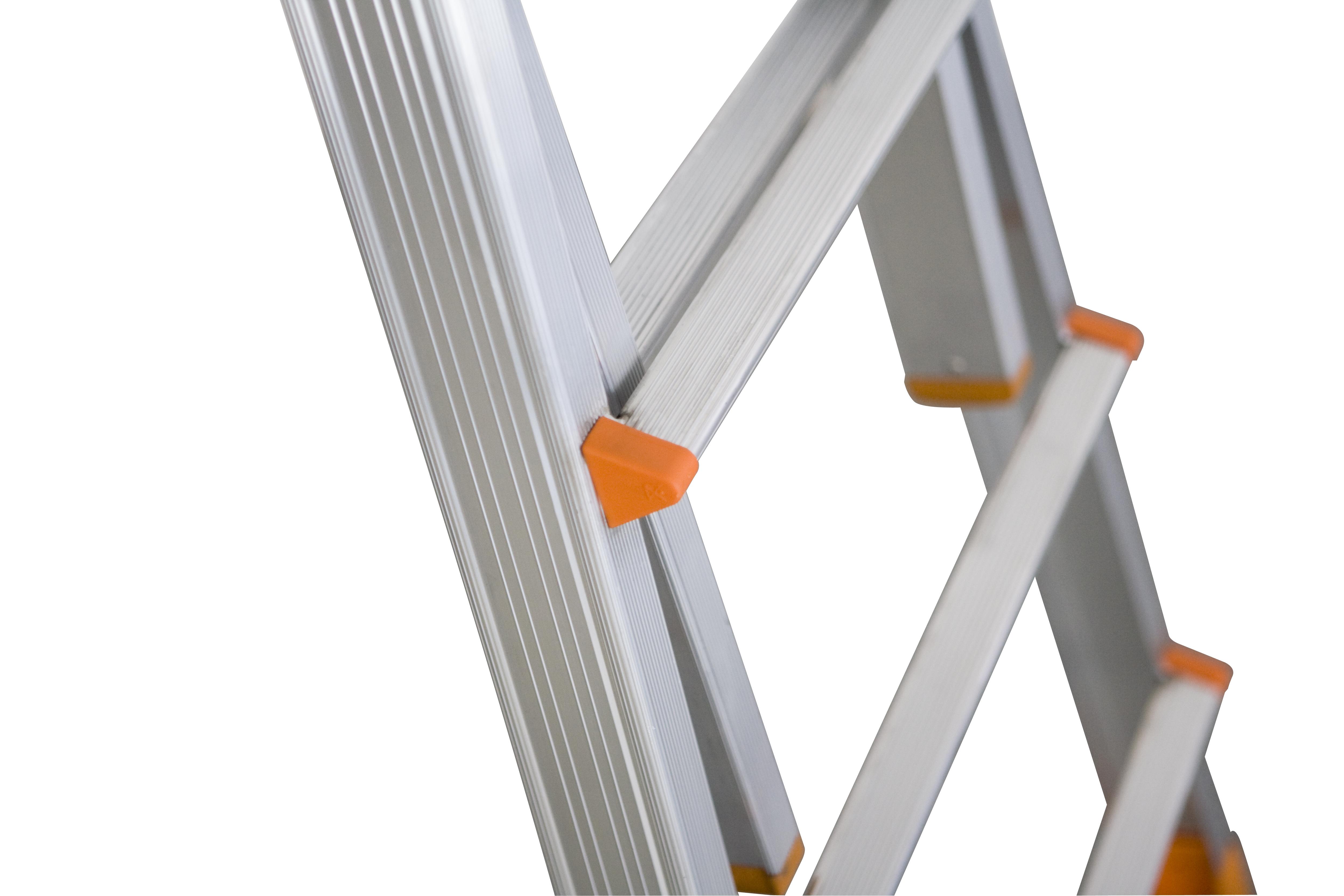 Aluminium teleskopleiter sprossen: mtl aluminium multifunktions