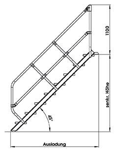 handlauf gel nder f r g nzburger treppe winkel 45 zweiter handlauf siegel steigtechnik. Black Bedroom Furniture Sets. Home Design Ideas
