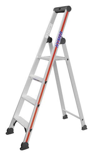 Plattform 4026 Stehleiter eloxiert 402608 Hymer Stufenstehleiter 8 Stufen inkl